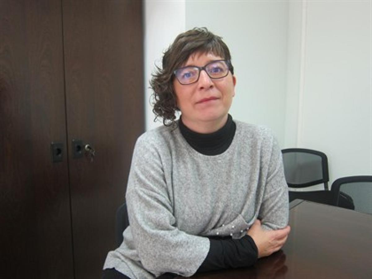 Loli García, secretaria general de CCOO de Euskadi. Foto Europa Press