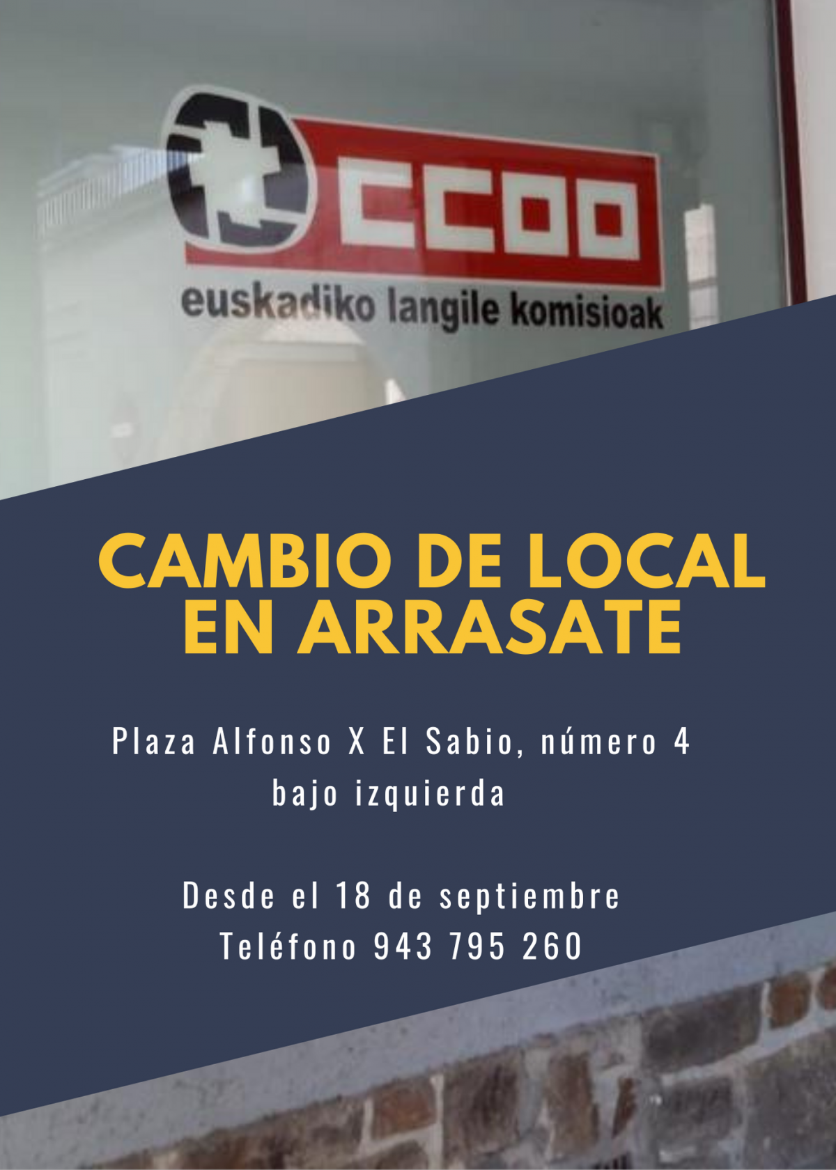 Cambio de local en Arrasate